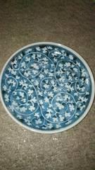藍色唐草花紋様皿窯印ー207.5�cスタート