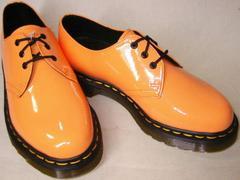 ドクターマーチン新品3ホール 1461エナメル10084811オレンジ