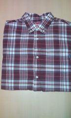 2009s/s summer plaid shirt 半袖シャツ エンジ