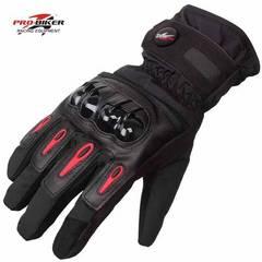 冬用バイクグローブ 防水 防寒 ブラック 手袋 スマートフォン