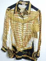 エルメス シルクシャツ 36 ゴージャス