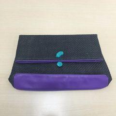 リナオク SLY スライ ペーパー クラッチ 黒×紫 リップアイコン