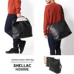 新品 SHELLAC HOMME シェラック 3way ショルダー バッグ
