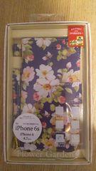 新品☆iphone6s/6 4.7インチ専用ブックタイプケース☆ 紺色花柄