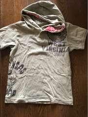 フードつき半袖ティーシャツ120#