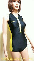 ☆SPEEDO☆大きいL☆光沢つる�A前ZIPの競泳水着2156☆3点で即落