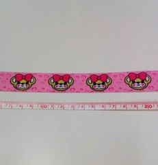約23mm巾 マフィちゃん柄リボン1M