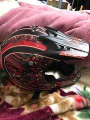 ☆licom☆モトクロスヘルメット 未使用 ゴーグル付き