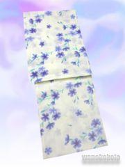 【和の志】女性用浴衣◇Fサイズ◇生成系・撫子柄628-34