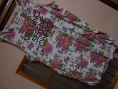 100スタ*花柄タンクLL*クリックポスト164円