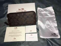 新品 コーチ長財布 74737 ブラウン 箱 保存袋