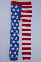 サイズ限定!お買得!!USフラッグ柄ベビー用スパッツ/レギンス80-90星条旗USA