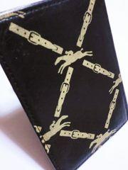 【セール】ロンシャン/ベルトロゴ柄革製カードケース