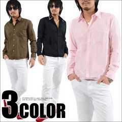 ブロード2枚衿 レギュラーシャツピンクL