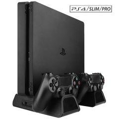 PS4/PS4 Pro/PS4 Slim多機能縦置きスタンド 冷却ファン