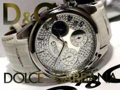 良品 1スタ【箱・真正証明】ドルガバ/D&G【クロノグラフ】腕時計