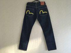 【美品】EVISU(エビス)のジーンズ 黄色 刺繍