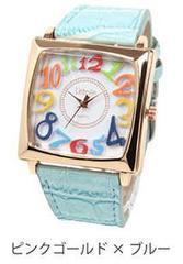 ★BIGスクエアフェイスカラフル レディース腕時計 DNS14B