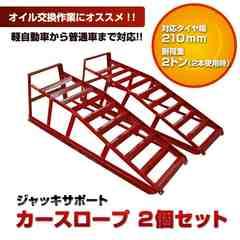 ローダウン車用カースロープ/ジャッキサポート/2個セット