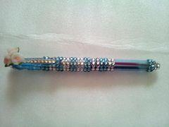 キラキラ二色ボールペン★ブルーストライプ