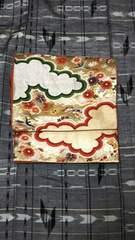 袋帯 雲取文様 四季花文様