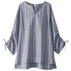 未使用品◆SANS FIN◆袖ギャザー使いブラウス/サイズLL