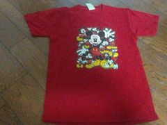 MICKEY'S Mサイズ 赤 Tシャツ
