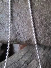 イタリア製シルバー925チェーン 1.5mm 50cm 3.4g *bead150