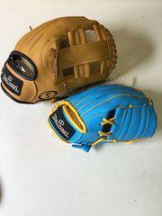 スポルティング 野球グローブ 親子セット 球付 茶水色