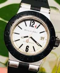 良品ブルガリアルミニウムレディース時計AL29TAラバーベルト稼働
