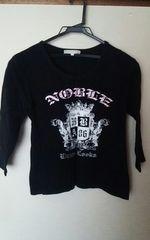 ビジュー付きTシャツ黒