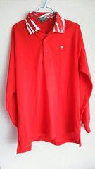 KENZO★赤★長袖ポロシャツ★フリーsize★ゴルフ