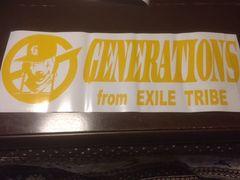 ハンドメイド generation 大サイズ ステッカー 黄色