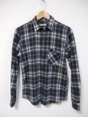 □HARE/ハレ チェック ネルシャツ/メンズ・S/ブラック×ホワイト