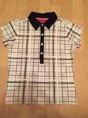 トミーガール チェックポロシャツ 黒×グレー×ピンク XS