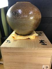 目澤孝の備前焼壺。
