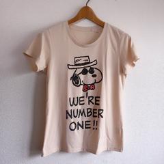 ◆UNIQLO/ユニクロ◆ピーナッツコラボ*スヌーピーTシャツ★ベージュL♪完売品