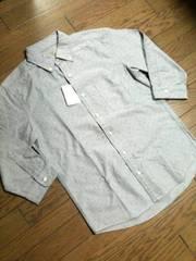 新品UNITED ARROWS 7分丈ドット柄シャンブレーシャツ アローズ