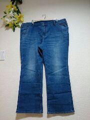 ★新品タグB0BSON★W114★バック刺繍★綿ストレッチジーンズ