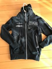 ビーチサウンドbeach soundパーカー ロゴSサイズ美品ブラック