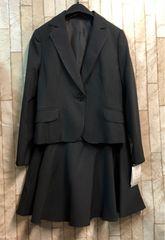 新品☆7号小さいプチ ストライプ スカートスーツお仕事にもb833