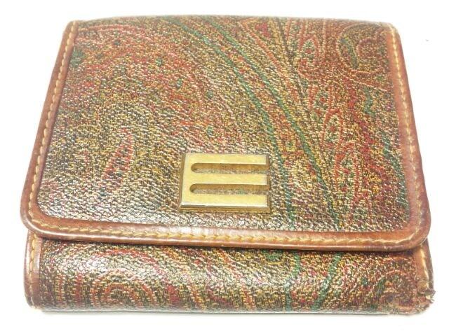 11541/ETROエトロ高級ブランド確実本物三つ折り財布★確実本物  < ブランドの