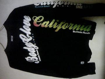 Body Glove/格好良いロゴの長袖Tシャツ/黒地/S~M