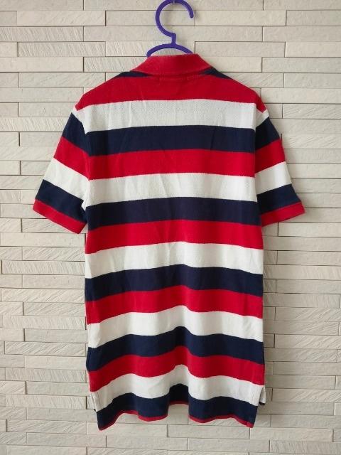 即決/POLO by Ralph Lauren/ロゴ大半袖ボーダーポロシャツ/7/130 < ブランドの