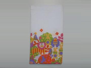 シーツ縮緬クレープ織り動物130cm×224cm白長期保管品新品未使用