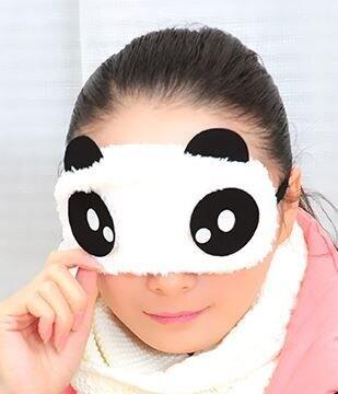 B30a アイマスク パンダ キラキラ ふわふわ 安眠