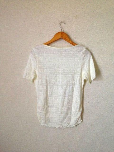 メイクレット◆ワッフル素材 カットソー Tシャツ L < ブランドの