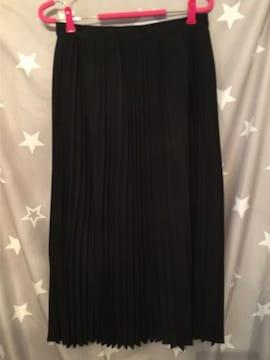 ブラック ロング スカート ウエストゴム 約37cm 新品 完売品 GU