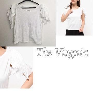 The Virgnia リボンフレアスリーブT ホワイト ザヴァージニア