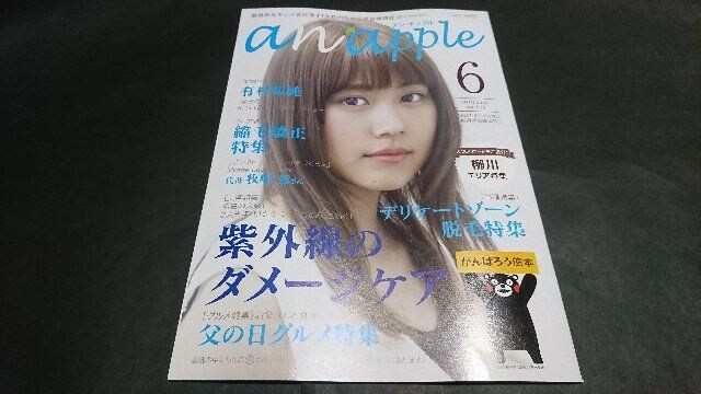 anapple(アンナップル) 2016 June vol.156 有村架純表紙 地方限定誌  < タレントグッズの